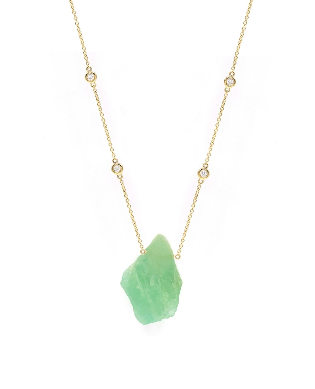 FLUORITE ROUGH CRYSTAL NECKLACE